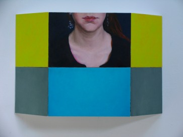 Teini-ikäinen tytttö: Öljyvårimaalaus, pleksilaatikolla/ Tonårsflicka: Öljemålning på plexilåda